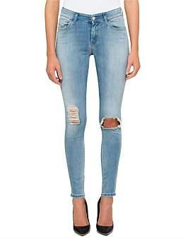 Diesel Slandy Mid Rise Super Skinny 5 Pocket Jean
