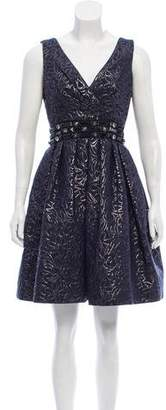 Naeem Khan Embellished Silk Dress