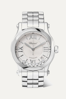 Chopard Happy Sport 36mm Stainless Steel And Diamond Watch - Silver