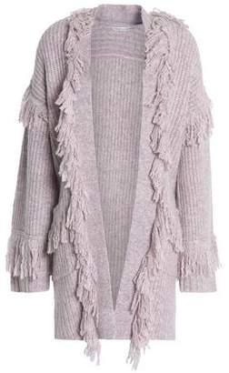 Rebecca Minkoff Fringed Ribbed-Knit Cardigan