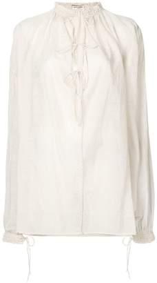 Saint Laurent voile balloon sleeve shirt