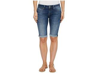 Mavi Jeans Karly Mid-Rise Bermuda Shorts in Dark Indigo Tribeca Women's Shorts