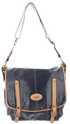 Tod's Coated Canvas Messenger Bag