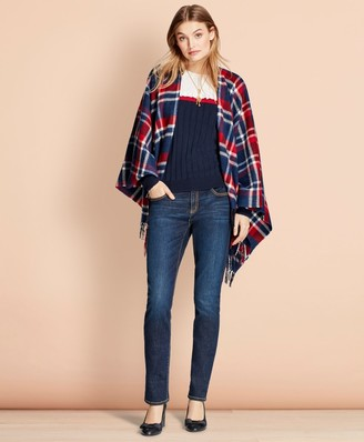 Brooks Brothers Plaid Wool Ruana