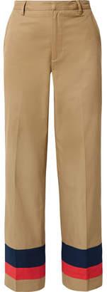 Tome Striped Cotton-twill Straight-leg Pants