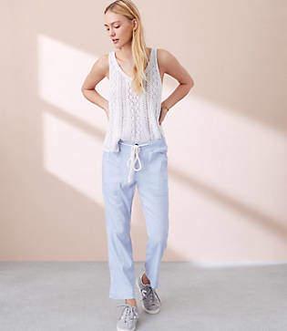 Lou & Grey Crosshatch Garment Dye Pants