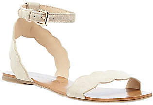 Sole Society Scalloped Flat Sandals - Odette