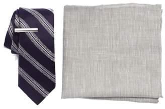 The Tie Bar Edison Stripe 3-Piece Skinny Tie Style Box