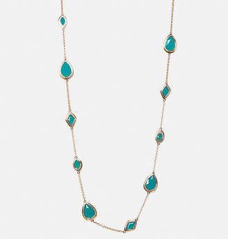 Avenue Teal Bead Station Necklace