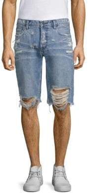 PRPS Destroyed Slim-Fit Denim Shorts
