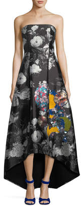 Sachin + Babi Cathy Embroidered Strapless Gown