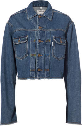 Fiorucci Berty Angel Patch Cropped Denim Jacket