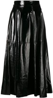 Federica Tosi vinyl flared skirt