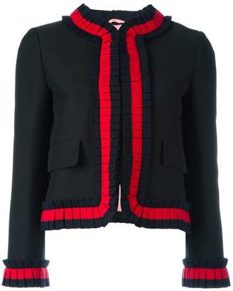Gucci cropped Web trim jacket