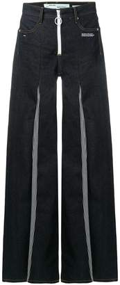 Off-White contrast flared jeans