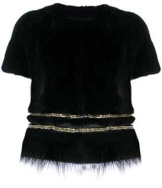 Yves Salomon collarless bolero-style jacket