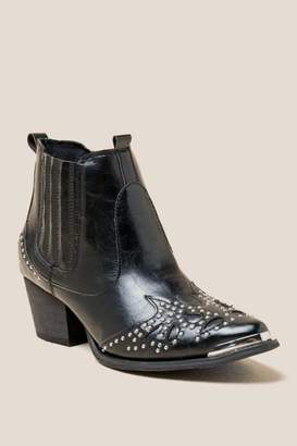 Wanted Lonestar Studded Western Boot - Black