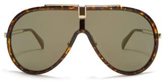 Givenchy Mask Tortoiseshell Acetate Sunglasses - Womens - Tortoiseshell