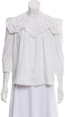 Needle & Thread Embroidered Three-Quarter Length Sleeve Top w/ Tags