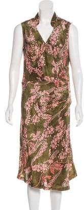 Ermanno Scervino Printed Midi Dress