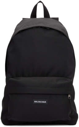 Balenciaga Black Nylon Explorer Backpack
