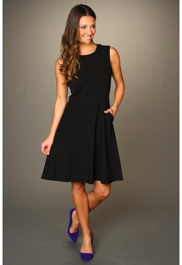 Calvin Klein Classic A-line Sheath Dress (Black) - Apparel