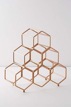 Anthropologie Honeycomb Wine Rack