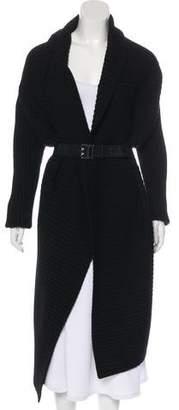 Kaufman Franco KAUFMANFRANCO Knee-Length Rib Knit Coat