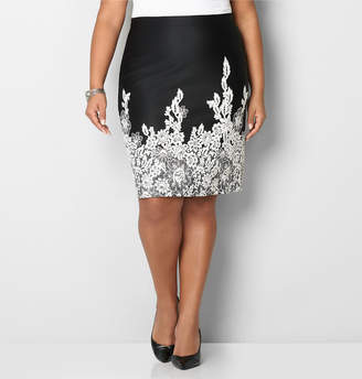 Avenue Floral Trim Skirt