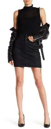 DL1961 Sandra Coated Lace-Up Skirt