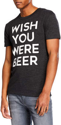 Chaser Men's Triblend Wish You Were Beer T-Shirt