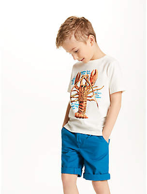 Boys' Lobster Facts Printed T-Shirt, Cre...