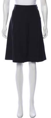 Emilio Pucci Virgin Wool Knee-Length Skirt Black Virgin Wool Knee-Length Skirt