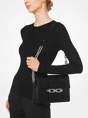 Michael Kors Cate Medium Calf Leather Shoulder Bag