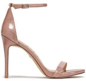 Sam Edelman Ariella Glittered Patent-leather Sandals