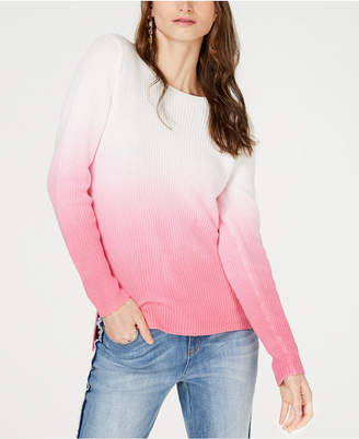 INC International Concepts I.N.C. Cotton Dip-Dye Pullover Sweater, Created for Macy's