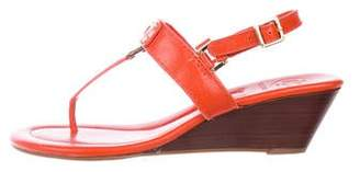 Tory Burch Leather Ankle Strap Wedges