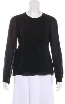 Burberry Silk Long Sleeve Top