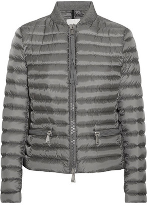 Moncler - Blen Quilted Shell Down Jacket - Gray $995 thestylecure.com