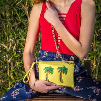 a92cd762e91d Tea   Tequila Yellow Palm Tree Crossbody Bag