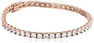 Swarovski Amazon Collection Rose Gold Plated Sterling Silver Tennis Bracelet set with Round Cut Zirconia (18.72 cttw), 8""
