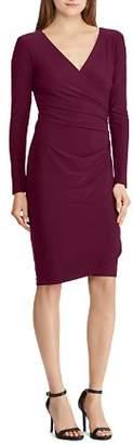 Ralph Lauren Faux-Wrap Jersey Dress