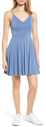 Women's Soprano Cross Back Fit & Flare Dress $39 thestylecure.com
