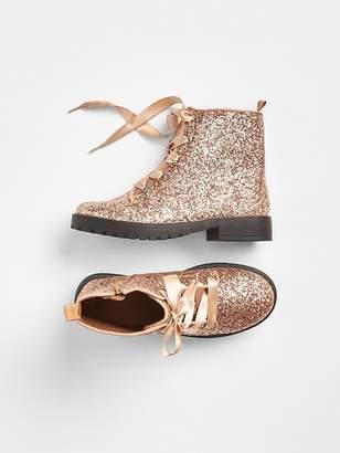 Gap Glitter Lace-Up Boots
