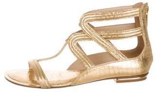 Michael Kors Metallic T-Strap Sandals