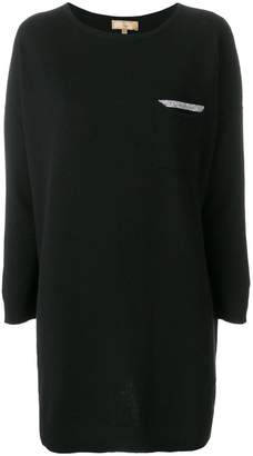 Fay long sleeved patch pocket top