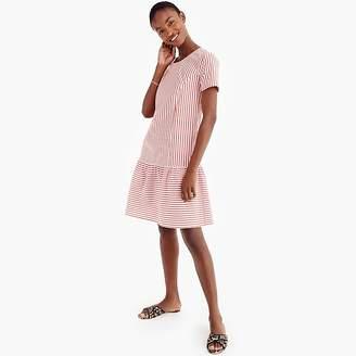 J.Crew Universal Standard for poplin drop-waist dress in stripe