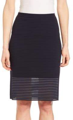 Lafayette 148 New York Striped Pencil Skirt