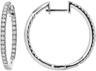 FINE JEWELRY LIMITED QUANTITIES 1/2 CT. T.W. Diamond Hoop Earrings
