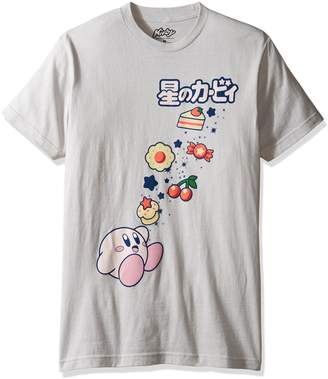 Nintendo Men's Kirby Eating Lots Candy, Cake, and Food Short Sleeve T-Shirt